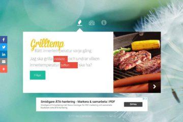 Grilltemp.se - Webbdesigner